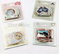 (1 Lot=4 Sets) DIY Scrapbooking Paper Vintage Memo Paste Wedding Photo Album Decoration Stickers Diary Sticker