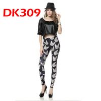 2014 Women Leggings Fitness Black Milk SKinny Jeans Cute Cat Digital Printing Pencil Pants DK309