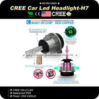 Gen3 20W H11 H8 H9 H7 Cree LED Headlight Conversion Kit 6000K 2400Lm CREE Chip White Car Fog Light Lamp