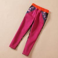 Baby girls pants kids children dot floral denim girl AB pants 0717 sylvia 37148603052
