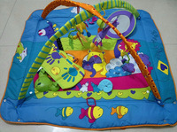 Tinyove educational toys baby music play gym mat Infant floor blanket / BLUE/ PINK color 5 toys /1 music box