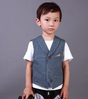 Baby boys coat kids children Waistcoat autumn denim stripped vest girl jacket 0713 sylvia 1277972174