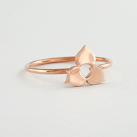 Free Shipping 30pcs/lot  Gold/Sliver/Rose Gold Mini Geometric Trillium Flower Ring Knuckle Ring For Women And Girl