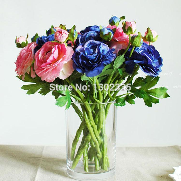 10pcs/Lot Realistic Simulation Artificial Flowers Restaurant Home Dining Table Decoration Dew Lotu /Tea Rose Silk Flow