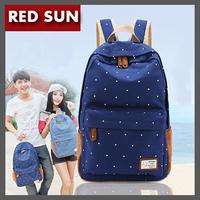 RED SUN Fashion Cute Flower School Knapsacks For Teenage Girl preppy Sweet spot Canvas Bookbag / Backpacks,Shoulder Bags NB1648