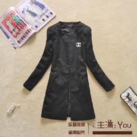 Free shipping U&Me 2014 autumn fashion elegant candy color slim medium-long jacquard suit female cardigan women brand jacket