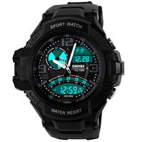 Luxury Skmei Men Sports Watches 2 Time Zone Digital Quartz Watch 50m Waterproof Multifunction Military Army Outdoor Wristwatches