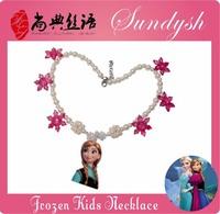 Lovely Anna Snowfake Pearl Ball Anna Frozen Anna's Necklace