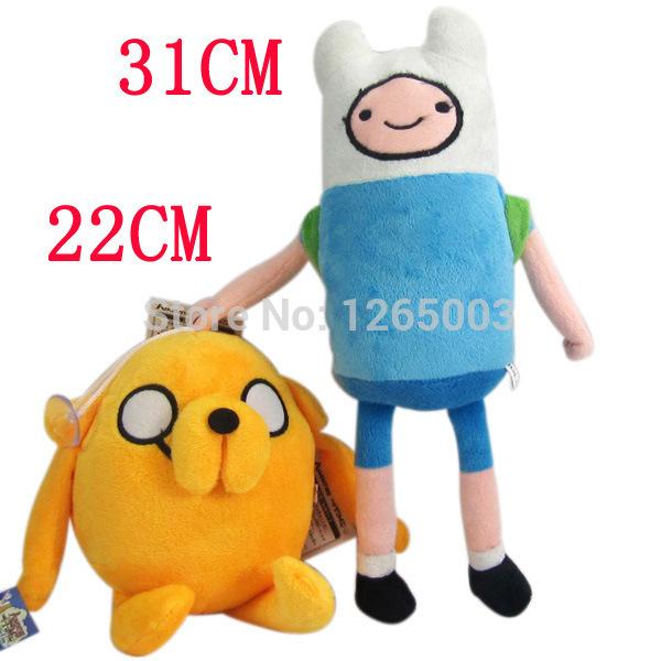 "2pcs/lot Free Shipping Adventure Time Finn & Jake Plush Doll Plush Toy Soft Stuffed Animal Doll 7"" 13'' Gifts The Llowest Price(China (Mainland))"