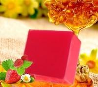 organic beauty products wholesale stawberry fruit soap  yellowish skin lighten 4pcs pack beauty products wholesale  freeshipping
