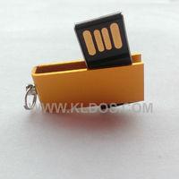Promotional Products Lot 100 Bulk USB Flash Drive PenDrive Mini USB Key  USB Stick  Custom Gifts Free Logo Gold Color