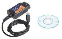 2014 TOP SELLING OBD/OBDII scanner ELM327 USB Diagnostic interface scan supports OBD-II protocols ELM327 V1.5 usb code reader