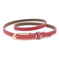 Free shipping belt belt buckle Joker fine pure color belt 2014 small belt belt ornament windbreaker women belt