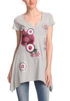 2014 Summer women clothing Desigual  t shirt Print  t shirt casual  novelty   women blouse fashion DG026