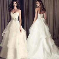 The bride wedding dress formal dress 2014 wedding maternity tube top fashion strap train