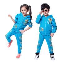 children's sports suit autumn hoody coat+pants roupas de meninas kids boys set tracksuit sportswear for Girls boy clothing sets