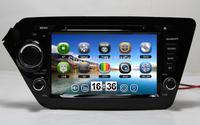 "8"" Car DVD GPS For  KIA RIO 2012 K2 2011-2012 Navigation TV Ipod Radio 3G USB host Russian language Free shipping Free GPS Map"