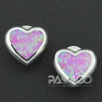 Angel Pink Fire Opal Silver Fashion  Jewelry Women Stud Earrings OLE032F  Wholesale & Retail