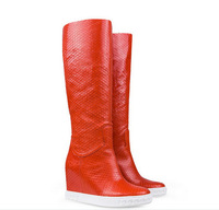women boots new 2014 women genuine leather shoes CASADE autumn winter shoes fashion women wedges boots size 35-42