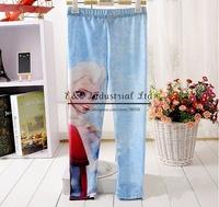 Hot Sale Kids Fall Leggings Frozen New Style Elsa Cute Toddle Girls Pants For Children Autumn Wear Wholesale
