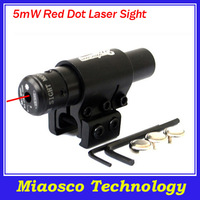 EMS Free Shipping 10pcs/lot 650nm Red Dot Laser Sight, 5mW Tactical Adjustable Red Laser Designator, Two Mount Red Laser Sight.