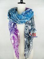 Wholesale 2014 New Fashion Women Cashew Muti Color Print Brand  Long  Scarf Elegant Cotton Scarves Neck Wrap Stole Neckerchief