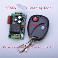 Free Shipping AC 220V 10A 1Channel Remote Control Switch Relay Output Radio Receiver Module and Wireless Transmitter