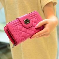 2014 new woman famous brand wallet wholesale free ship PU CC women wallet cheap women 2 C wallets women wallets