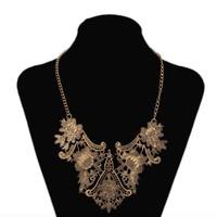 2014 New fashion bijoux for women vintage tibetan silver tribal india cameo flower bib collar statement necklace free shipping