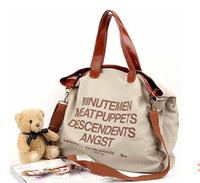 GO FASHION Plus Size Plaid Canvas Bag Handbag Shoulder Bag Casual Bag Wholesale