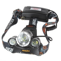 Original High quality Boruit RJ3000 3t6 5000lm Headlamp 3x CREE XML T6 LED 5000Lm Boruit Headlight