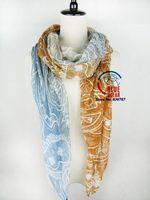 2014 Popular Women Brand Gradient Cashew Flower Bohemia Long Scarf Elegant Cotton Scarves Neck Wrap Stole Neckerchief