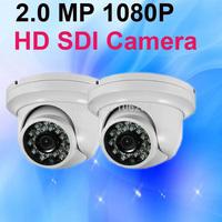 IR Dome CCTV Camera HD SDI 1080P Hight definition WDR 20m IR Day night vision Metal Dome Security Surveillance Camera