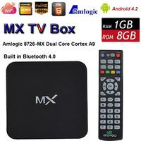 MX XBMC Midnight Android 4.2 Dual Core Smart TV Box Stick Amlogic 8726 1/8G WiFi Bluetooth XBMC Fully Loaded HDMI Media Player