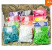 Free FedEx shipping 100sets /a lot rubber bands loom kit RefillsTwistz Bands 600bands+24S-Clips for DIY bracelets