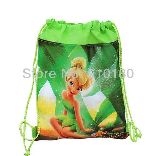Drawstring backpack girls bag children kids bag 34x27cm non woven
