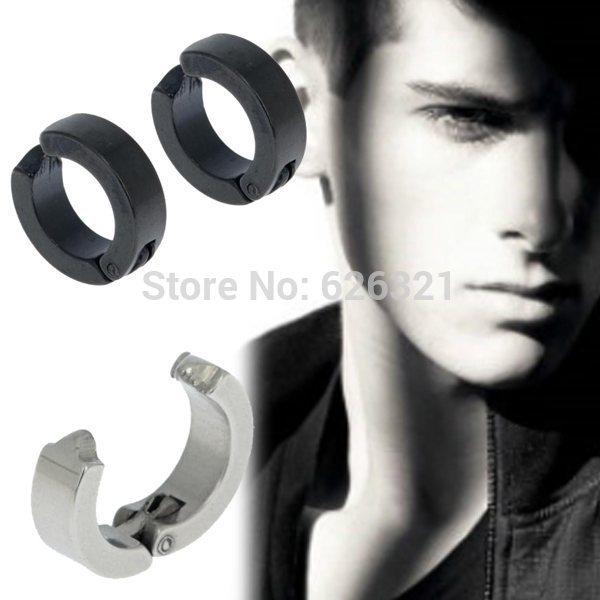 Hoop Earrings With Studs Steel Ear Stud Cuff Hoop