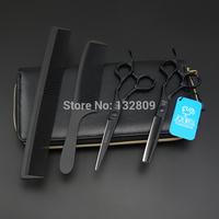 6.0 Professional high-end Hair Scissors set,cutting scissors & thinning scissors,barber shears,JP440C,S291