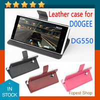 Hot Selling Best Quality Doogee Dagger DG550 Flip Leather Case Cover For Doogee Dagger DG550 Black White In Stock