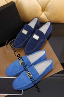 Free Shipping 2014 New Brand Designer Comfortable Walking Driving Loafers Men Soft Suede Fashion Slip-on Leisure Shoes Hot Sale