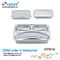 HY614 hot sale stainless steel children dinner plate,food plate