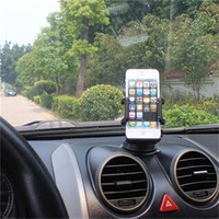 1PC Universal 360 Degree Adjustable Car Windshield Mount Holder Car Mobile Phone Stand with Retail Box 258X