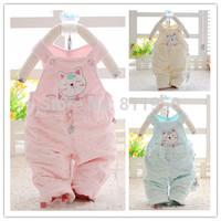 free shipping!Children's clothing 1 - 2 - 3 infant spring and autumn kitten bib pants velvet bib pants female children's pants