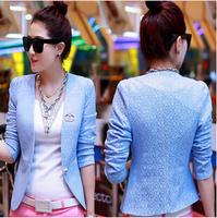 2014 Autumn New Blazer Women Lace Short Paragraph Small Suit Jacket Casual Blazers  DJ-17