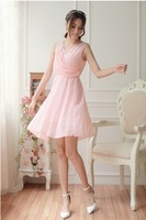 2014 new promotional dress temperament Slim chiffon dress sent free 806 #