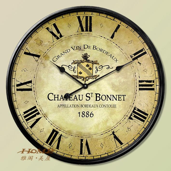 Achetez en gros horloge assiette en papier en ligne des for Grande horloge murale moderne