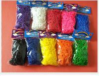Free FedEx shipping 200sets /a lot 2014 rubber bands loom kit Refills Twistz Bandz 600 bands for bracelets+24 S-Clips
