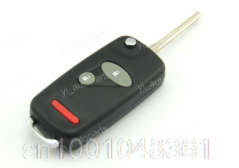 3 Buttons Remote Flip Folding Key Shell Case Fob Keyless Fit For Honda Element Blade2.3(China (Mainland))