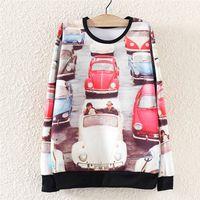 2014 Fashion Harajuku Autumn Winter Women Hoody Hoodie Car Jams Printed Sweatshirt Pullover Sport Suit Women's Tracksuit Casual