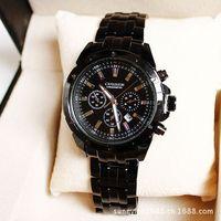 Martian man 2014 new arrival fashion Korean men's steel watch 10 meters waterproof watch with calendar free shipping D0051